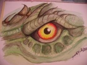 Draköga, akvarell, 2006, SÅLD