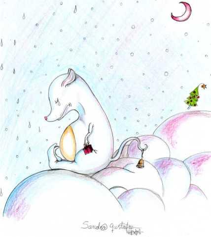"""""""Cloudboys blue blue christmas"""", färgpennor, 2008"""