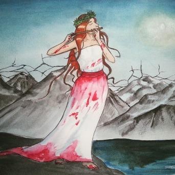 """""""Flöjten"""", akvarell, 2015"""